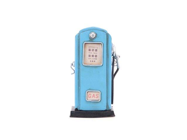 Modrá plechová kasička Dakls Gass Pump
