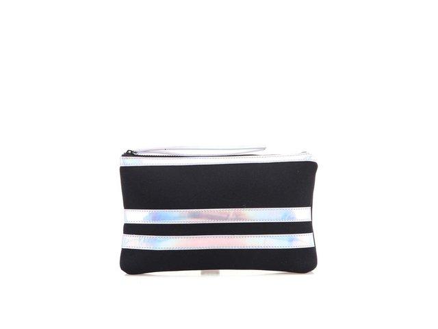 Stříbrno-černé psaníčko / kosmetická taštička Pieces Pcpoo