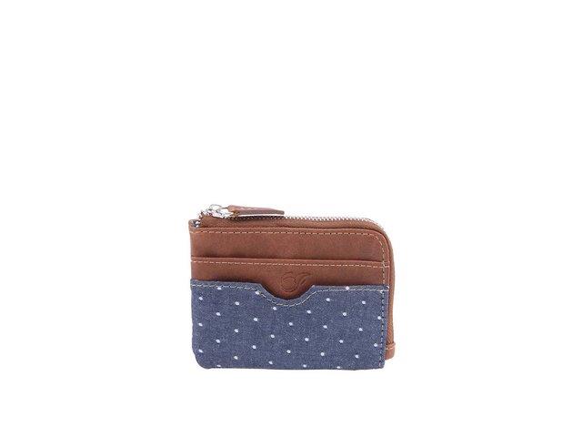 Modro-hnědá peněženka Icon Brand Wellington