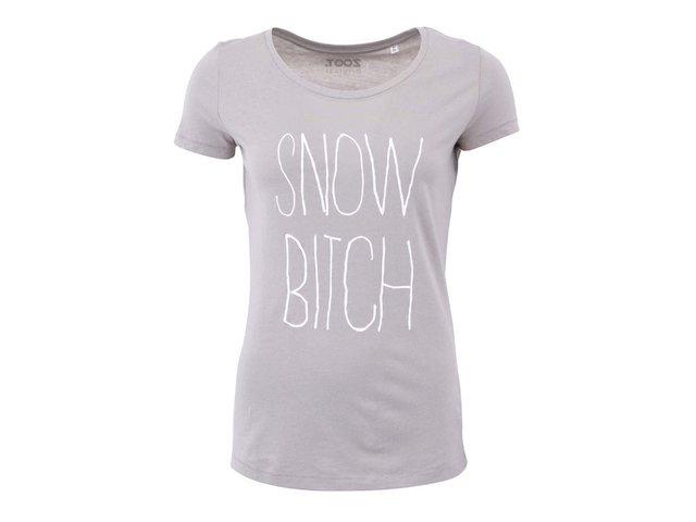 Šedé dámské tričko ZOOT Originál Snow Bitch