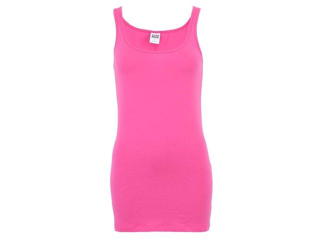 Růžové dámské delší tílko Vero Moda Maxi My