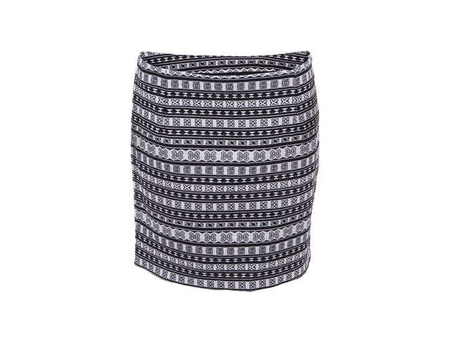 Černo-bílá vzorovaná sukně ONLY Koshi