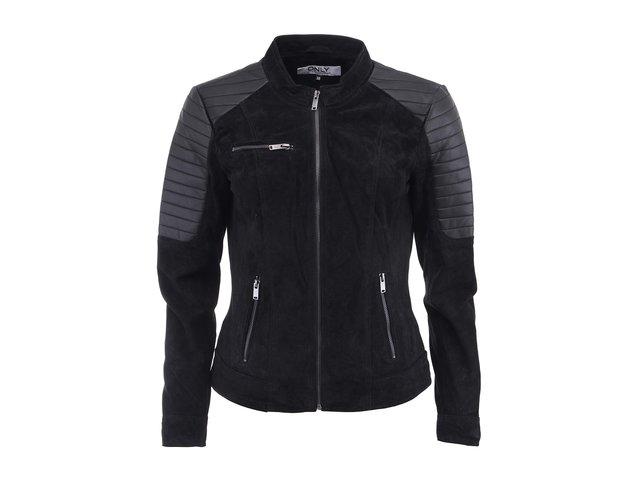 Černá kožená bunda ONLY Blossom