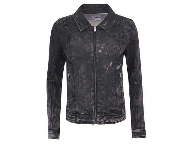 Černá džínová bunda se sepraným efektem Mama.licious Sanne