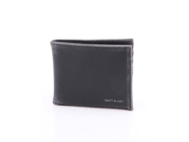 Černá pánská veganská peněženka Matt & Nat Rubben