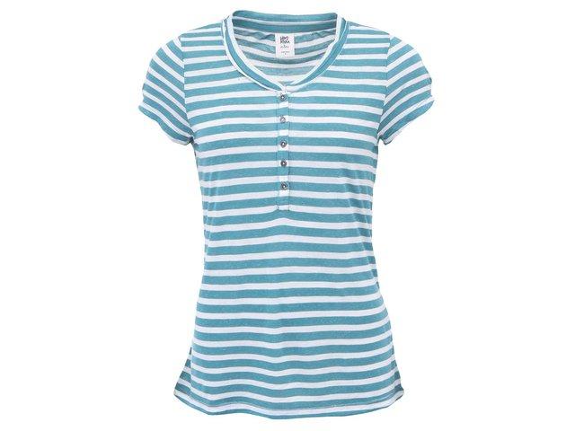 Tyrkysovo-bílé pruhované tričko Vero Moda Latte
