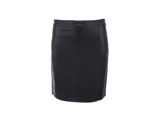 Černá koženková sukně ONLY Danielle