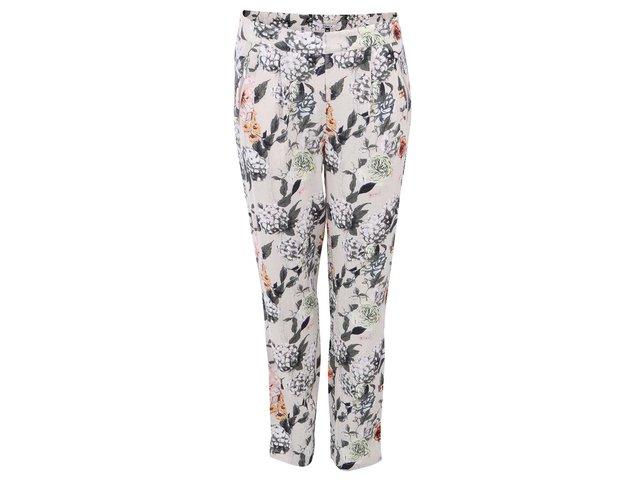 Béžové květované kalhoty ONLY Hella