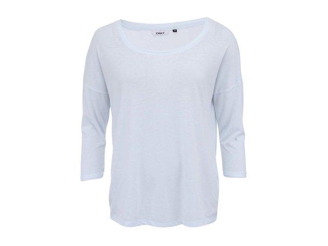 Světle modré tričko s 3/4 rukávem ONLY Hella