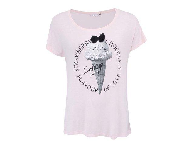 Růžové tričko se zmrzlinou ONLY Belle