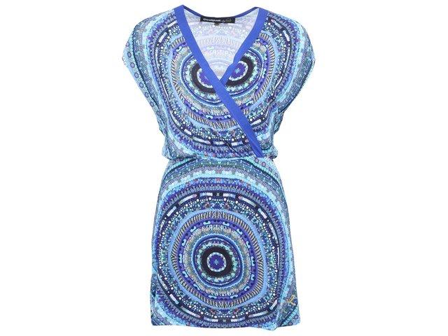 Modré vzorované šaty Desigual Union