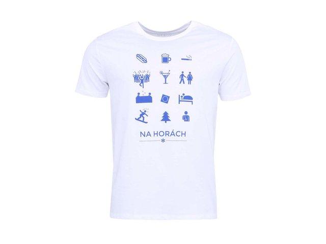 Bílé pánské triko ZOOT Originál Zimní sporty