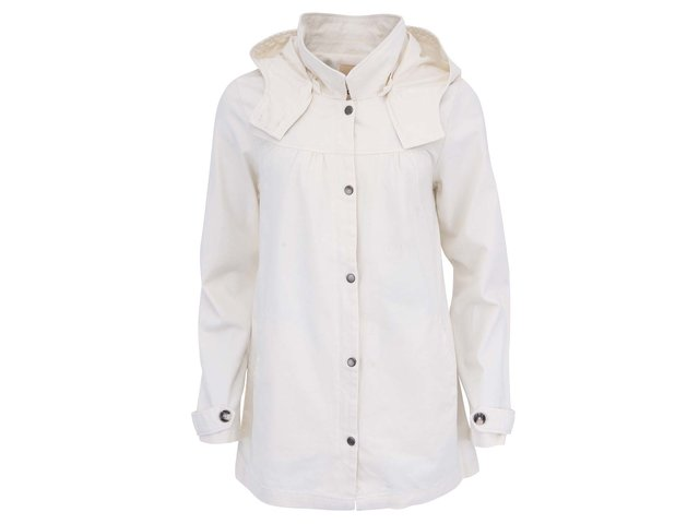 Krémový lehký kabát s kapucí ICHI Theo
