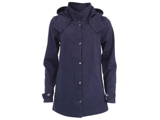 Tmavě modrý lehký kabát ICHI Theo