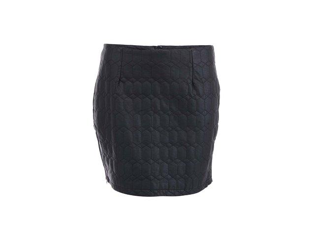 Černá prošívaná sukně ICHI Tevoz
