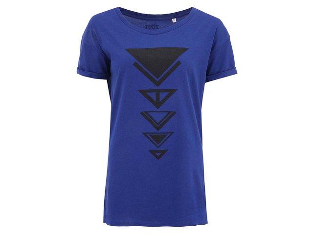 Modré dámské tričko ZOOT Originál Trojúhelníky