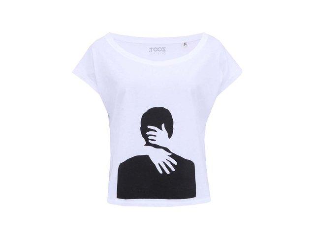 Bílé dámské krátké tričko ZOOT Originál Muž