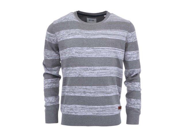 Šedý svetr s bílými pruhy ONLY & SONS Lamuel