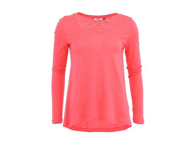 Růžové tričko s dlouhým rukávem ONLY Gold