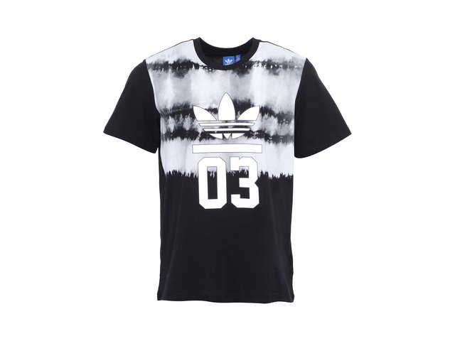 Černé pánské triko s potiskem adidas Originals 3Foil