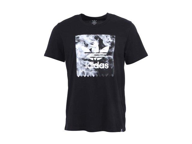 Černé pánské triko s potiskem adidas Originals Burned Stamp