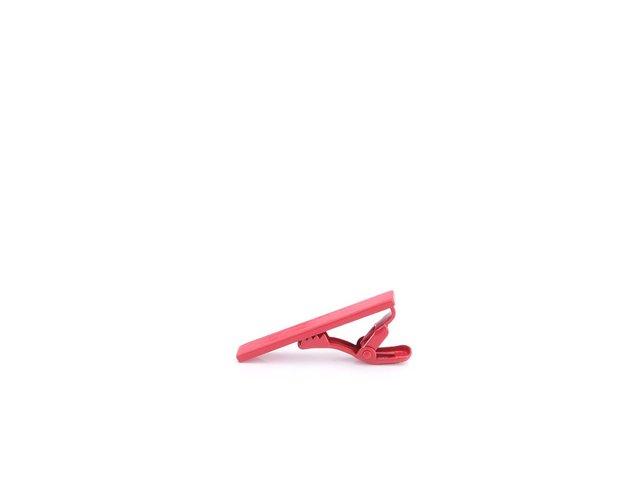 Růžová spona na kravatu Portia