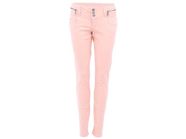 Meruňkové slim kalhoty Vero Moda Blue