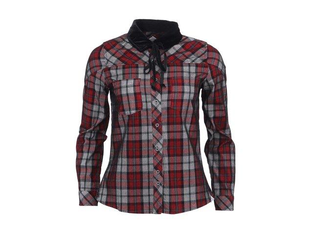 Černo-červená dámská kostkovaná košile Bellfield Ruza