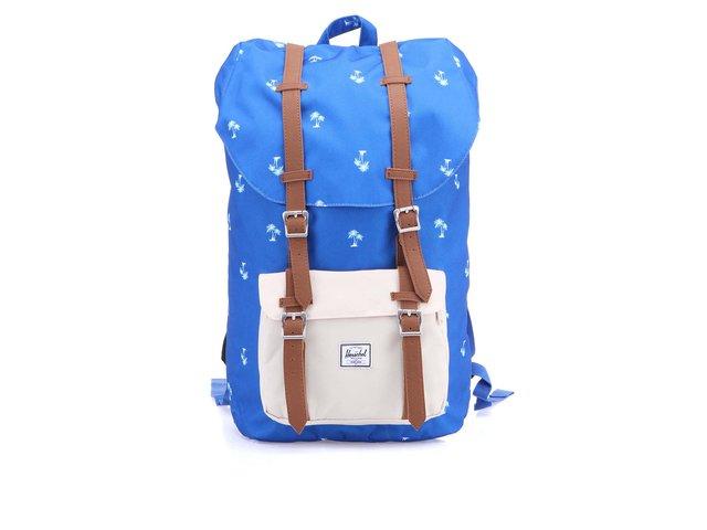 Modrý batoh s potiskem palem Herschel Little America