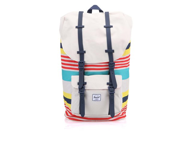 Bílý batoh s barevnými pruhy Herschel Little America