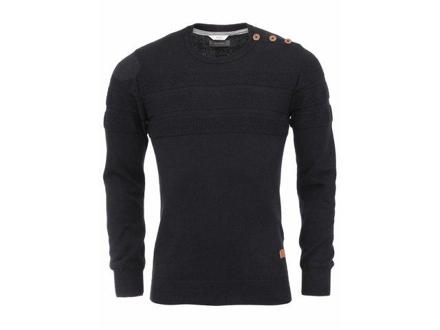 Černý svetr s knoflíky na ramenou Bertoni