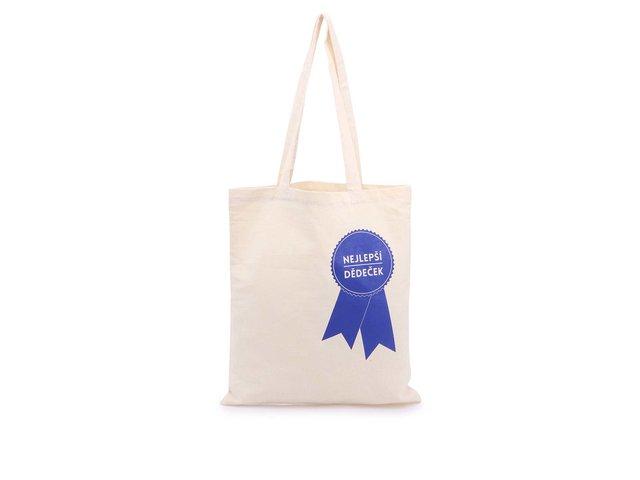 Krémová plátěná taška ZOOT Originál Nejlepší dědeček
