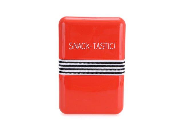 Červený větší svačinový box Happy Jackson Snack Tastic
