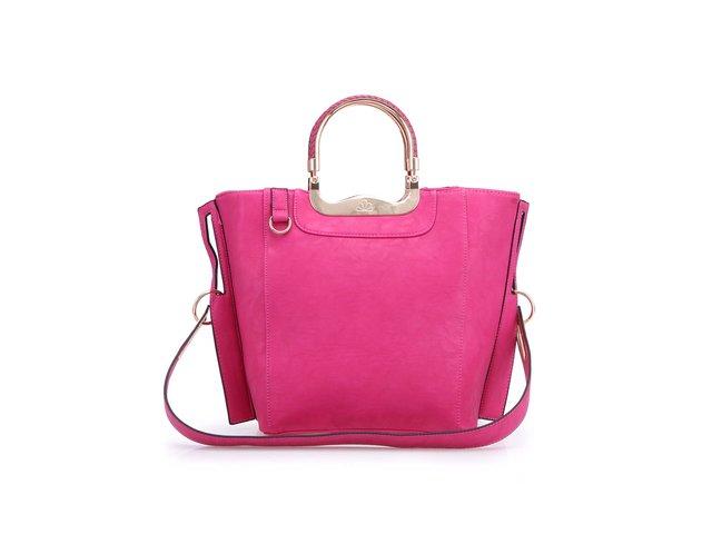 Růžová obdélníková kabelka Milan Fashion