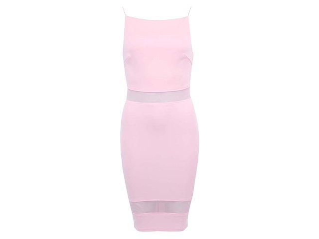 Světle růžové šaty AX Paris
