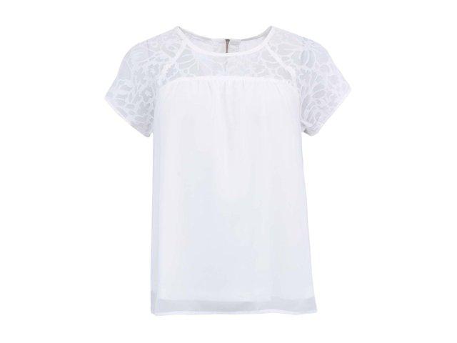Bílé dámské triko s krátkými rukávy Vero Moda Lacer