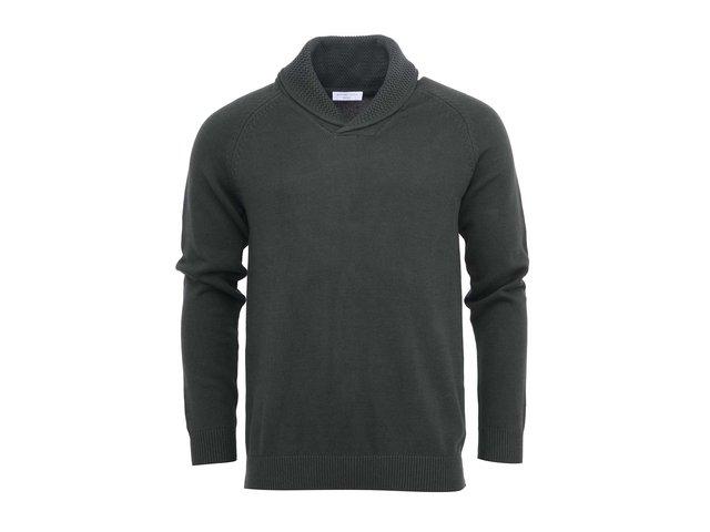 Zelený svetr s límcem Selected Eldon
