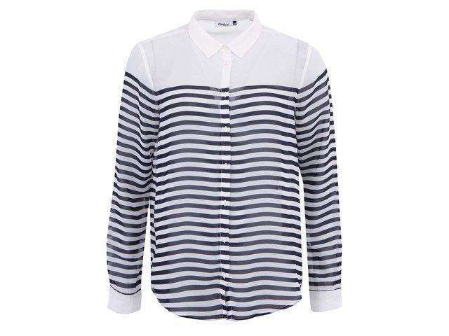 Modro-bílá pruhovaná košile ONLY Malika
