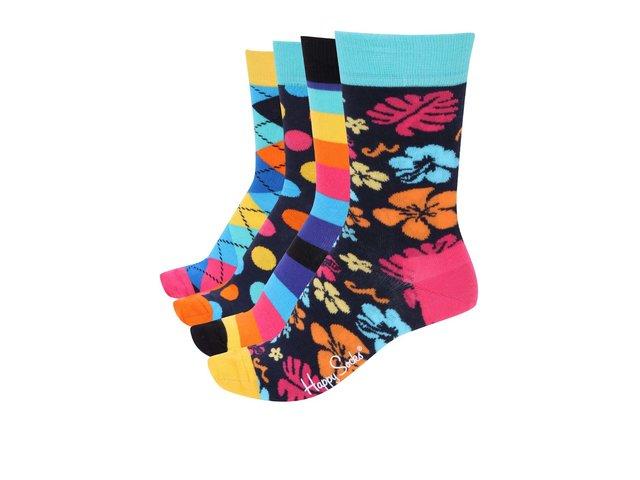 Sada čtyř párů barevných dámských ponožek Happy Socks Pre pack