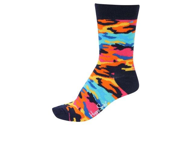 Barevné dámské maskáčové ponožky Happy Socks