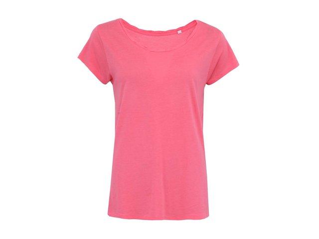 Růžové dámské volnější tričko Stanley & Stella