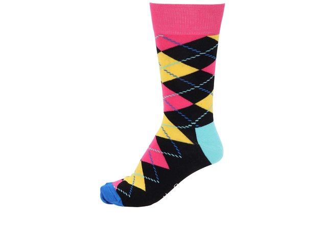Barevné unisex kárované ponožky Happy Socks