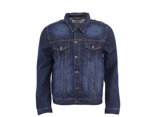 Modrá džínová pánská bunda Bellfield Burma
