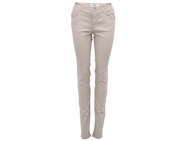 Béžové skinny kalhoty ONLY Minna