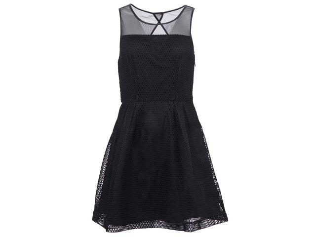 Černé síťované šaty ONLY Jess