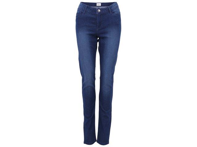Modré strečové skinny džíny s vyšším pasem Vero Moda Shadow