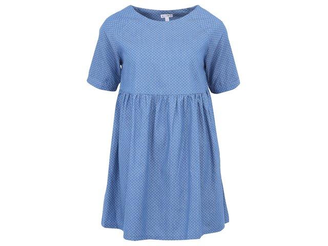 Modré šaty s krátkým rukávem Kling Capoterra