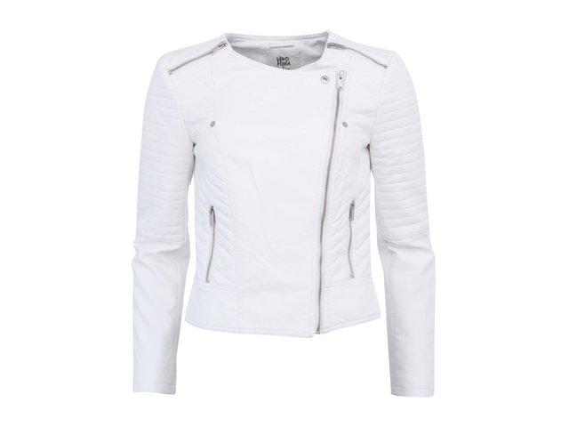 Bílá krátká bunda zdobená zipy Vero Moda Air
