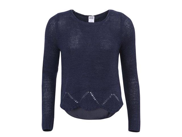 Tmavě modrý svetr s prodlouženými zády Vero Moda Remona