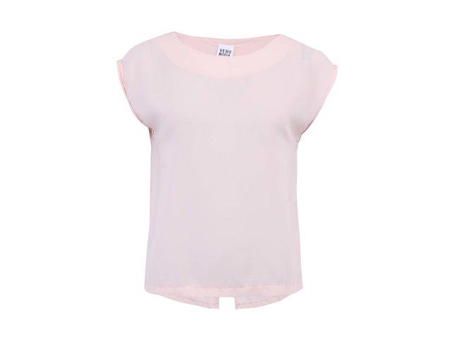 Růžový volnější top Vero Moda Selma